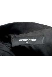 Dsquared2 Men's Black Wool Silk Embellished Full Zip Windbreaker Jacket: Picture 5