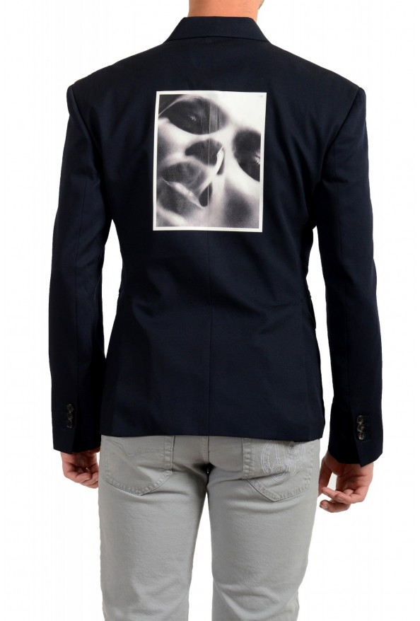 "Dsquared2 & ""Mert & Marcus 1994"" Men's 100% Wool Navy Blue Blazer: Picture 3"