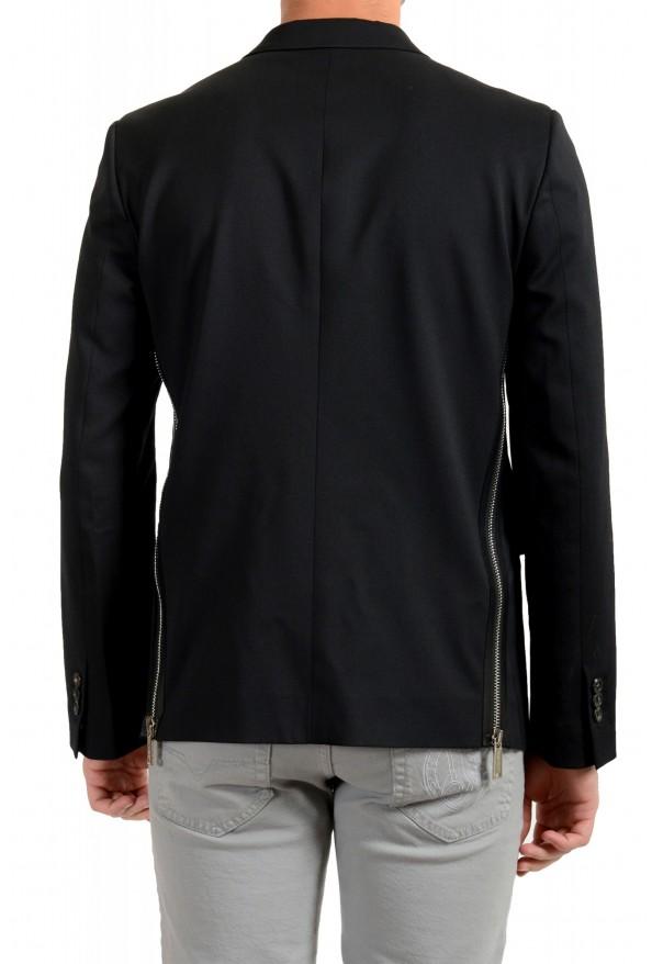 Dsquared2 Men's Black Wool Two Button Sport Coat Blazer: Picture 3