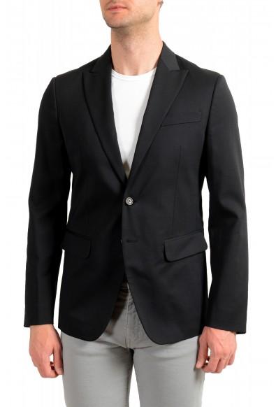 Dsquared2 Men's Black Wool Two Button Sport Coat Blazer
