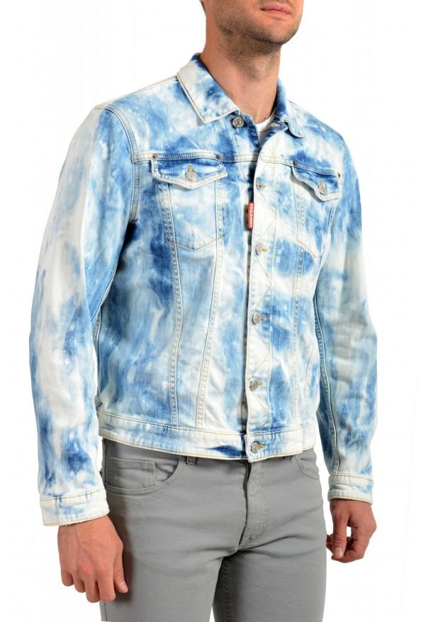 """Dsquared2 Men's """" Dan Jean"""" Acid Wash Button Down Denim Jacket: Picture 2"""