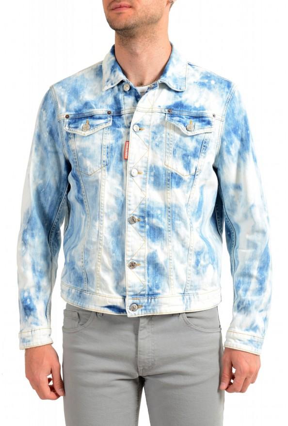 """Dsquared2 Men's """" Dan Jean"""" Acid Wash Button Down Denim Jacket"""