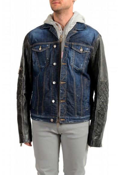 Dsquared2 Men's Denim Hooded Full Zip Jacket