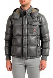"""Moncler Men's """"NIVELLE"""" Gray Hooded Full Zip Down Parka Jacket"""