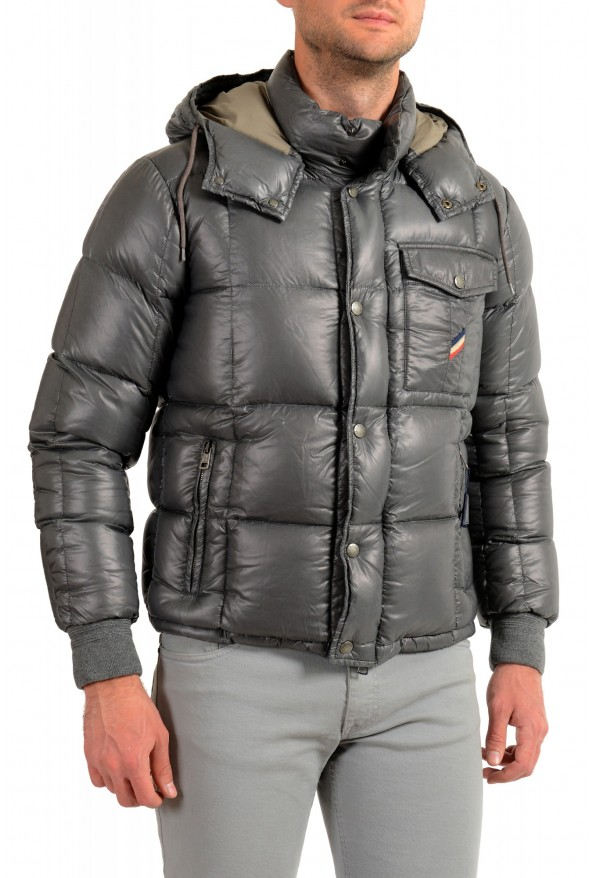 "Moncler Men's ""NIVELLE"" Gray Hooded Full Zip Down Parka Jacket: Picture 2"