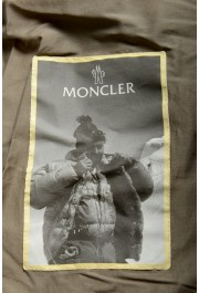 "Moncler Men's ""NIVELLE"" Gray Hooded Full Zip Down Parka Jacket: Picture 5"