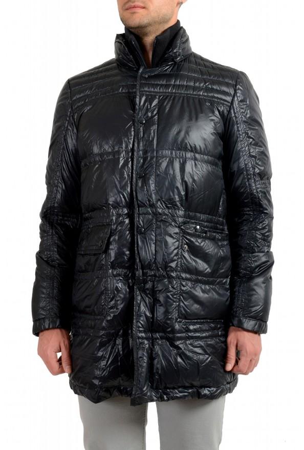 """Moncler Men's """"ERNEST"""" Navy Blue Full Zip Down Parka Jacket"""
