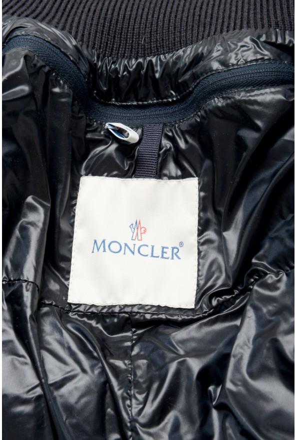 "Moncler Men's ""ERNEST"" Navy Blue Full Zip Down Parka Jacket: Picture 5"