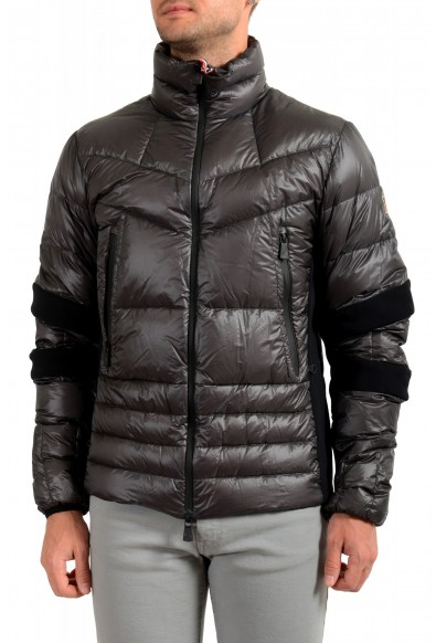 """Moncler Men's """"CANMORE"""" Gray Full Zip Down Parka Jacket"""