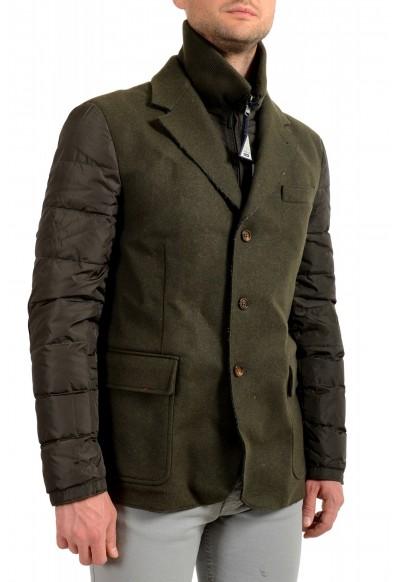 "Moncler Men's ""EUGENE"" Olive Green Full Zip Down Blazer Jacket: Picture 2"