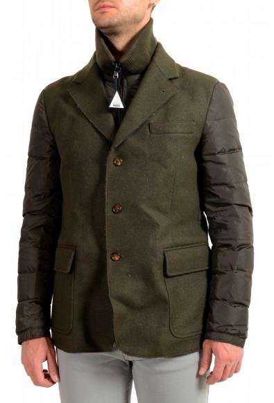 """Moncler Men's """"EUGENE"""" Olive Green Full Zip Down Blazer Jacket"""
