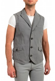 """Moncler Men's """"TOMA"""" Gray Down Insulated Vest Jacket: Picture 2"""