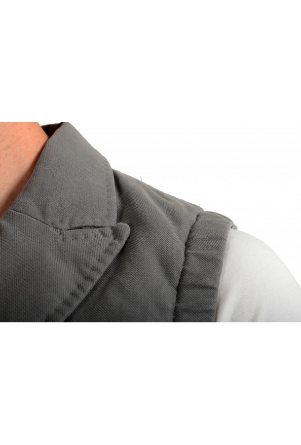 """Moncler Men's """"TOMA"""" Gray Down Insulated Vest Jacket: Picture 4"""
