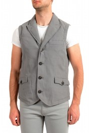 """Moncler Men's """"TOMA"""" Gray Down Insulated Vest Jacket"""