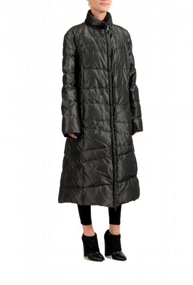 """Moncler Women's """"MONIQUE"""" Gray Full Zip Down Parka Jacket : Picture 2"""