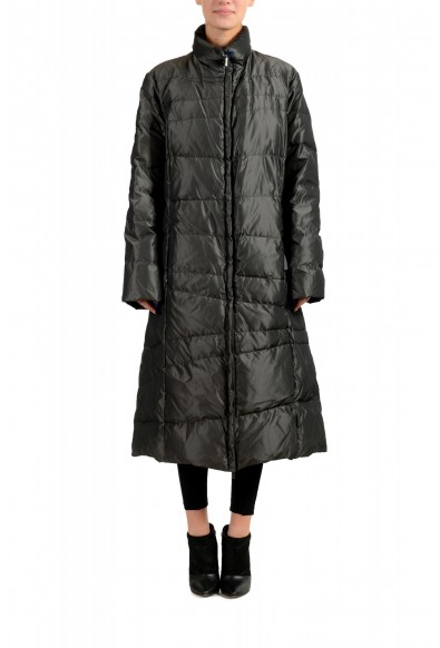 "Moncler Women's ""MONIQUE"" Gray Full Zip Down Parka Jacket"