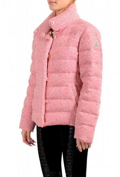 """Moncler Women's """"CARDERE"""" Pink 100% Wool Down Parka Jacket: Picture 2"""