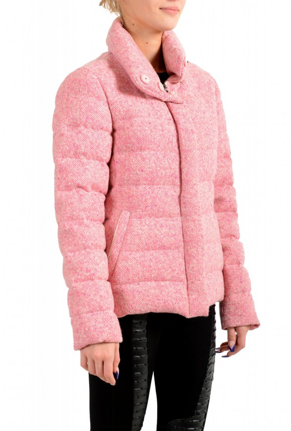"""Moncler Women's """"CARDERE"""" Pink 100% Wool Down Parka Jacket: Picture 3"""