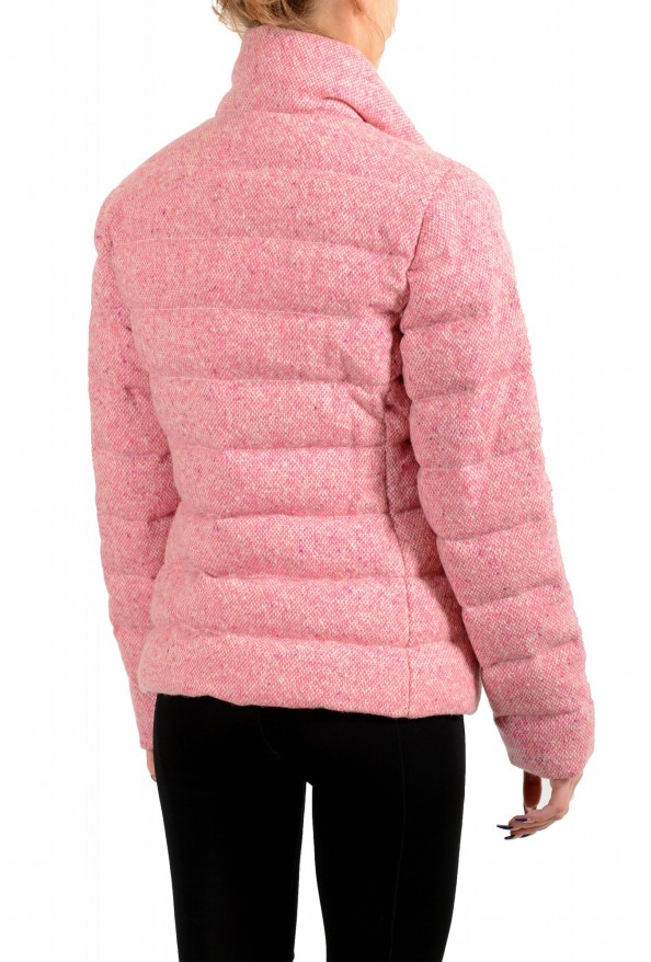 """Moncler Women's """"CARDERE"""" Pink 100% Wool Down Parka Jacket: Picture 4"""