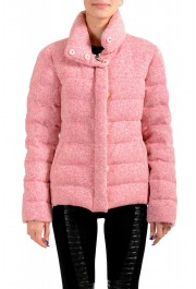 """Moncler Women's """"CARDERE"""" Pink 100% Wool Down Parka Jacket"""