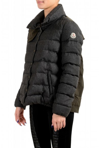 "Moncler Women's ""SEI"" Gray 100% Wool Down Parka Jacket: Picture 2"