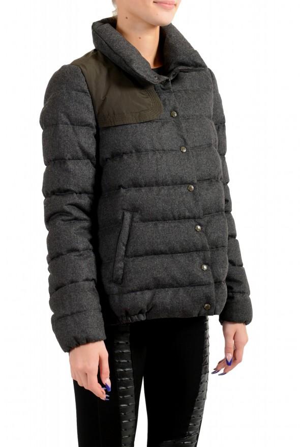"Moncler Women's ""SEI"" Gray 100% Wool Down Parka Jacket: Picture 3"