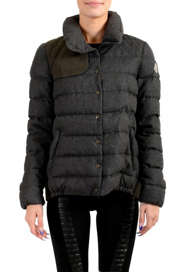 """Moncler Women's """"SEI"""" Gray 100% Wool Down Parka Jacket"""