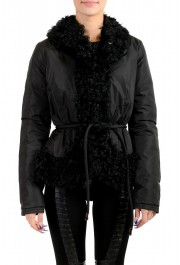 "Moncler Women's ""VENT"" Black Fur Trimmed Down Parka Jacket"