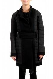 "Moncler Women's ""ATTITUDE"" Black Belted Down Parka Jacket Coat"