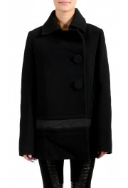 """Moncler Women's """"CAPPOTTO"""" Black 100% Wool Down Insulated Coat"""