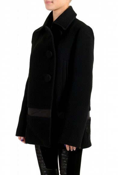 """Moncler Women's """"CAPPOTTO"""" Black 100% Wool Down Insulated Coat : Picture 2"""