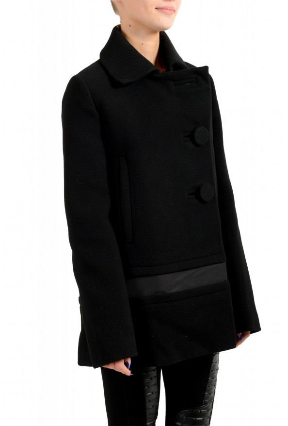 """Moncler Women's """"CAPPOTTO"""" Black 100% Wool Down Insulated Coat : Picture 4"""