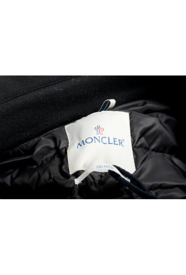 """Moncler Women's """"CAPPOTTO"""" Black 100% Wool Down Insulated Coat : Picture 6"""