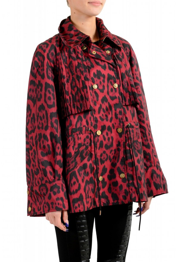 Just Cavalli Women's Animal Print Double Breasted Trench Coat Jacket : Picture 2