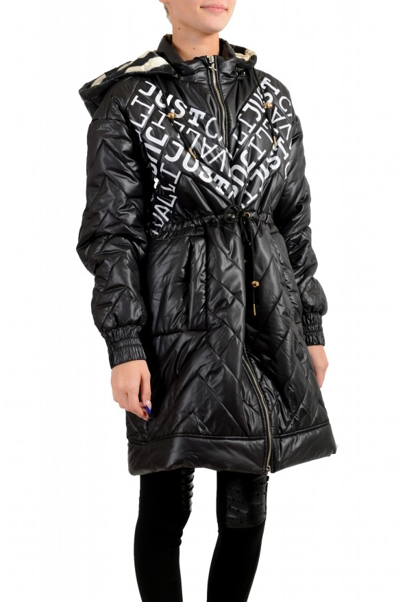 Just Cavalli Women's Multi-Color Logo Print Hooded Parka Jacket Coat: Picture 2