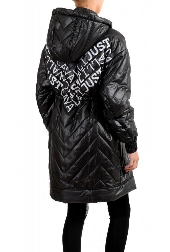Just Cavalli Women's Multi-Color Logo Print Hooded Parka Jacket Coat: Picture 3