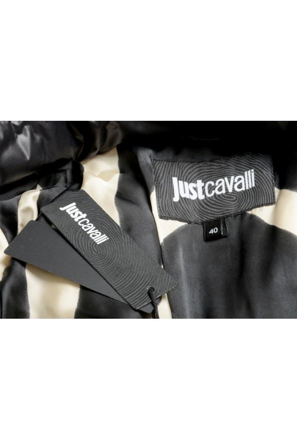 Just Cavalli Women's Multi-Color Logo Print Hooded Parka Jacket Coat: Picture 6