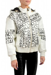 Just Cavalli Women's Multi-Color Logo Print Hooded Parka Jacket: Picture 2
