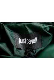 Just Cavalli Women's Green Croc Print 100% Leather Bomber Jacket: Picture 5