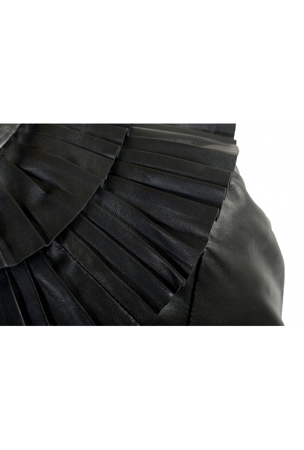 Just Cavalli Women's Black 100% Leather Belted Bomber Jacket : Picture 4