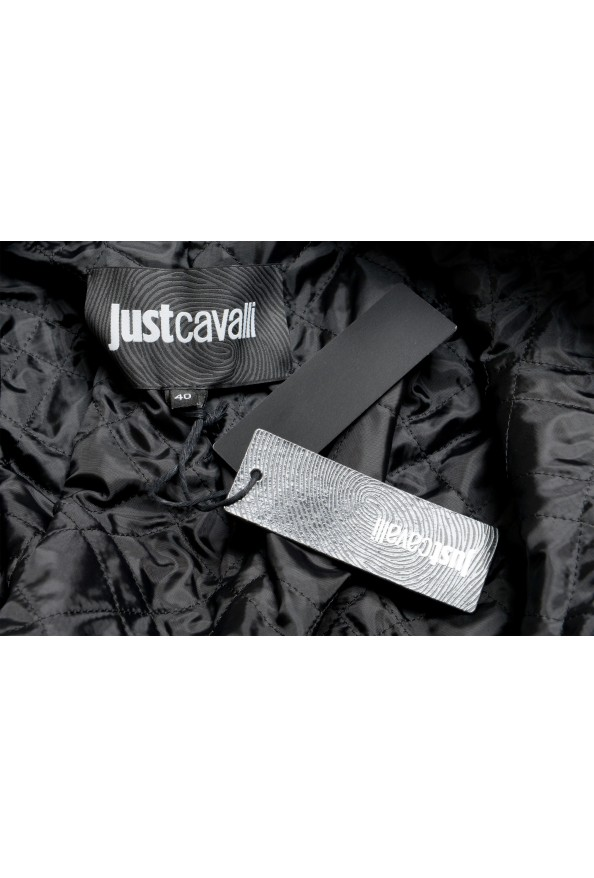 Just Cavalli Women's Black 100% Leather Belted Bomber Jacket : Picture 6