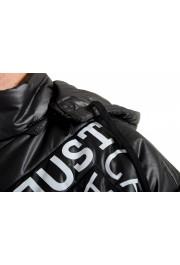 Just Cavalli Men's Black Logo Print Hooded Full Zip Parka Jacket : Picture 4