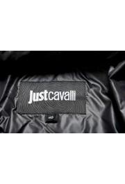 Just Cavalli Men's Black Logo Print Hooded Full Zip Parka Jacket : Picture 5