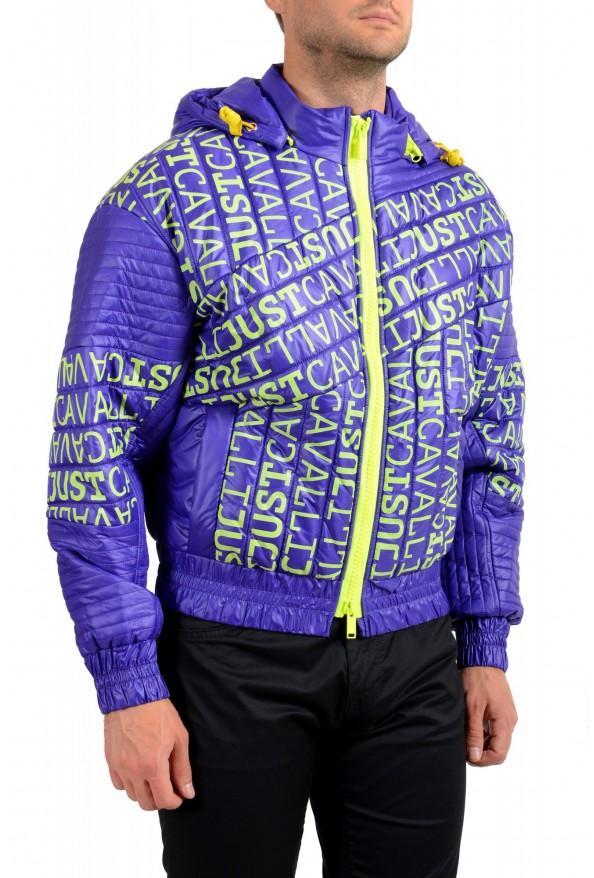 Just Cavalli Men's Logo Print Hooded Full Zip Parka Jacket: Picture 2