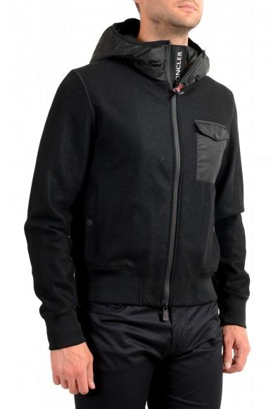 "Moncler Men's ""SANTOIRE"" Black 100% Wool Hooded Jacket: Picture 2"