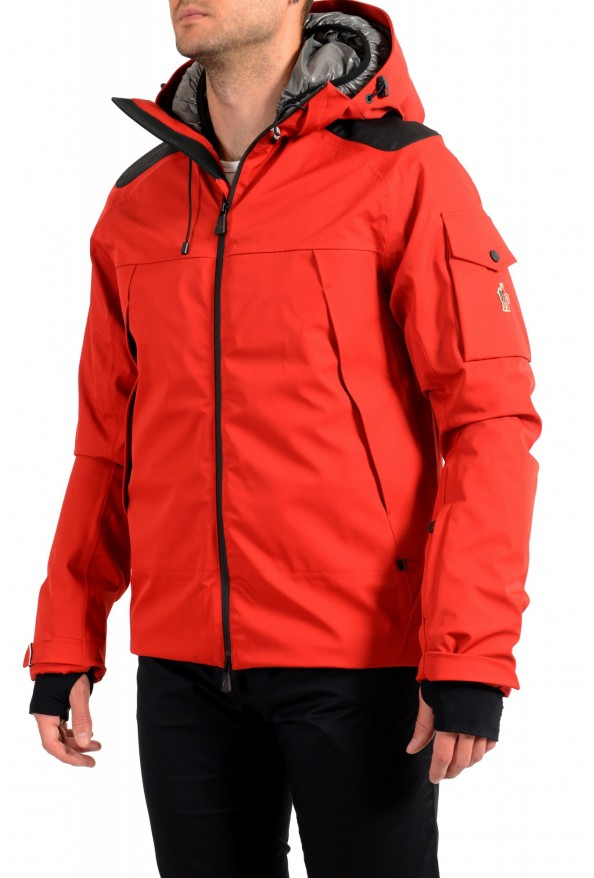 """Moncler Men's """"FOUX"""" Hooded Red Full Zip Down Parka Jacket: Picture 3"""