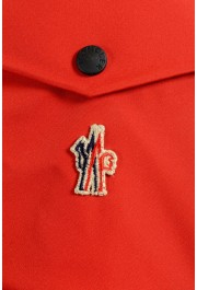 """Moncler Men's """"FOUX"""" Hooded Red Full Zip Down Parka Jacket: Picture 6"""