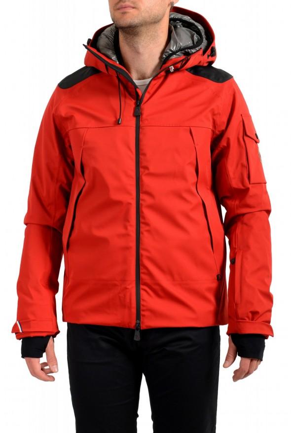 "Moncler Men's ""FOUX"" Hooded Red Full Zip Down Parka Jacket"