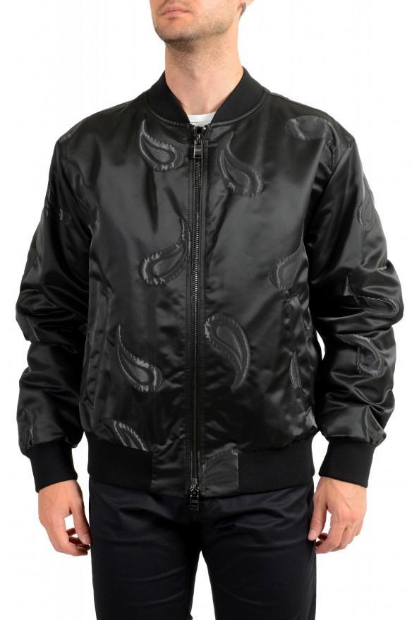 """Hugo Boss Men's """"Chanton"""" Black Full Zip Windbreaker Jacket Coat"""