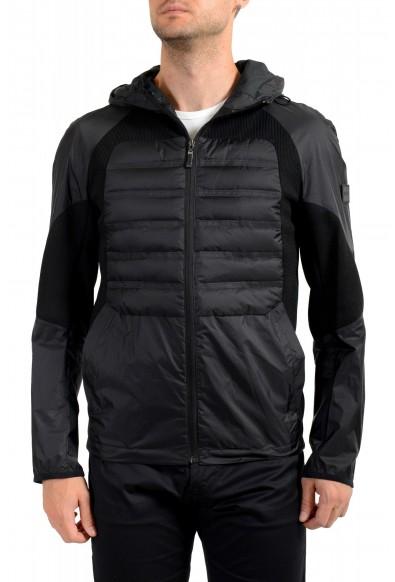 "Hugo Boss Men's ""J_Briscas"" Black Full Zip Windbreaker Jacket"